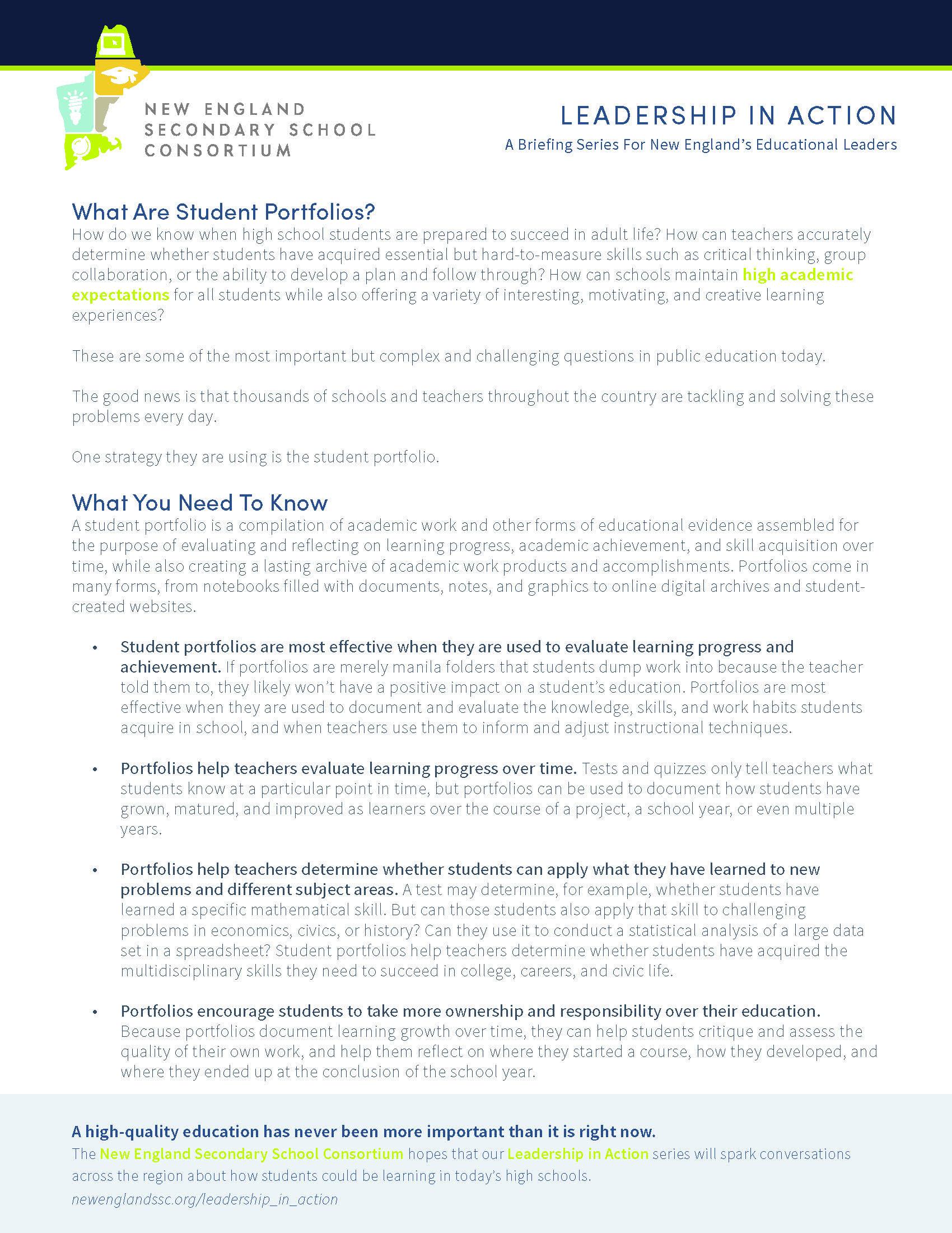 nessc_briefing_no15_whatareportfolios | Great Schools Partnership