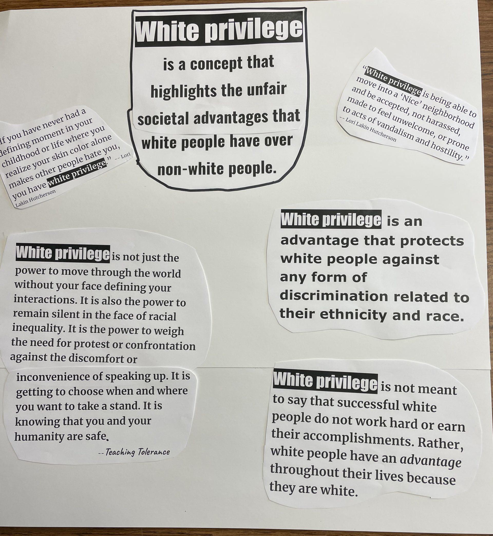 White privilege poster